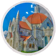 Montgomery Baptist Church Hdr Round Beach Towel