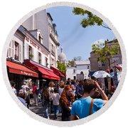 Montmartre Artist Colony Round Beach Towel