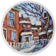 Montreal Scene 03 By Prankearts Round Beach Towel
