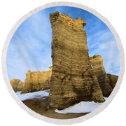 Monument Rocks Round Beach Towel