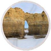 Monument Rocks Arch Round Beach Towel