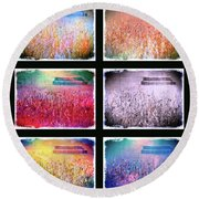 Moods Of The Harvest Round Beach Towel