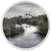 Moody Marsh Round Beach Towel