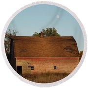 Moon Barn IIi Round Beach Towel