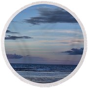 Moon Beach Round Beach Towel