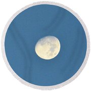 Moon Before Dark Round Beach Towel