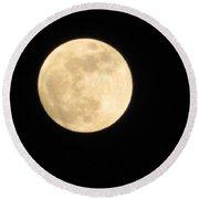 Moon Galaxy Mercury Round Beach Towel
