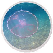Moon Jelly Round Beach Towel