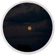 Moon Rising 06 Round Beach Towel by Thomas Woolworth