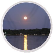 Moon Rising Round Beach Towel