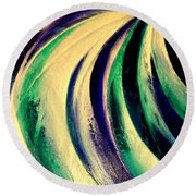 Moonlight In Water Fall Round Beach Towel