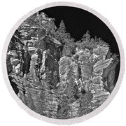 Moonlit Cliffs Round Beach Towel