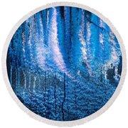 Moonlit Forest Round Beach Towel