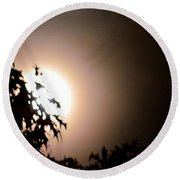 Moonlit Oak Round Beach Towel