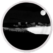 Moonrise Adams Country Round Beach Towel