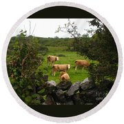 Moooo Round Beach Towel