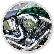 More Chrome 2 Round Beach Towel