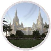 Mormon Cathederal San Diego Round Beach Towel