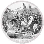 Mormons At Nauvoo, 1840s Round Beach Towel