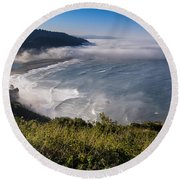 Morning At Klamath River Overlook Round Beach Towel