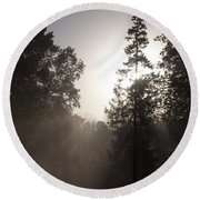 Morning At Valley Forge Round Beach Towel