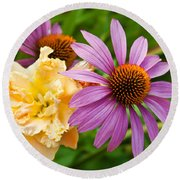 Morning Bouquet Round Beach Towel