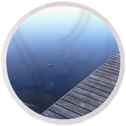 Morning Dock Round Beach Towel