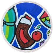 Morning Energy Round Beach Towel