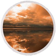 Morning Expressions Round Beach Towel