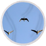 Morning Formation Round Beach Towel