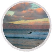 Morning In Maui Round Beach Towel