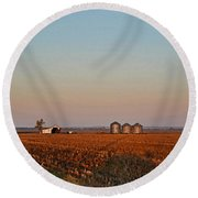 Morning In The Heartland Watercolor Photoart I Round Beach Towel