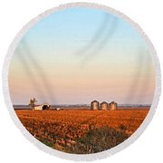 Morning In The Heartland Watercolor Photoart II Round Beach Towel