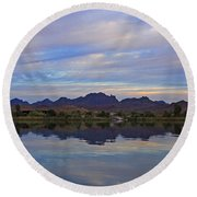 Morning Light On The River Round Beach Towel