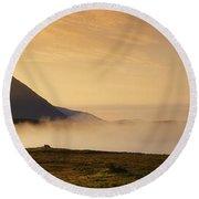 Morning Mist, Connemara, Co Galway Round Beach Towel