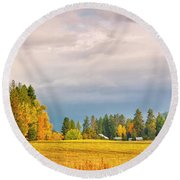 Morning On The Dufort Round Beach Towel