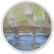 Morning On The Meuse Round Beach Towel
