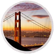 Morning Over San Francisco Round Beach Towel