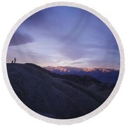 Morning Shooting Death Valley Round Beach Towel