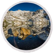 Morning Sun On Angel Lake Round Beach Towel