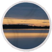 Morning Sun Rising At Arctic Sea Round Beach Towel by Heiko Koehrer-Wagner