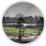 Morning Tee Round Beach Towel