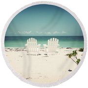 Morning View-vintage Round Beach Towel