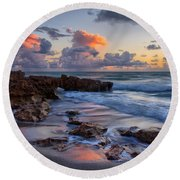 Mornings Reflections Round Beach Towel