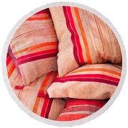 Moroccan Cushions Round Beach Towel