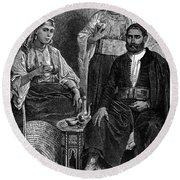 Moroccan Jews, C1892 Round Beach Towel