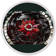 Mosaic Pudding Round Beach Towel