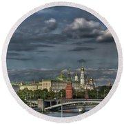 Moscow Kremlin Round Beach Towel