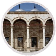 Mosque Of Muhammad Ali In Cairo Round Beach Towel