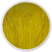 Moss In Yellow II Round Beach Towel